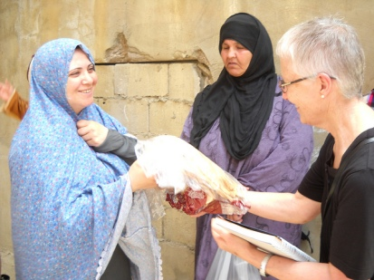 Pax Christi International Co-President Marie Dennis during a visit to Shatila Refugee Camp, Beirut, Lebanon (May 2013)