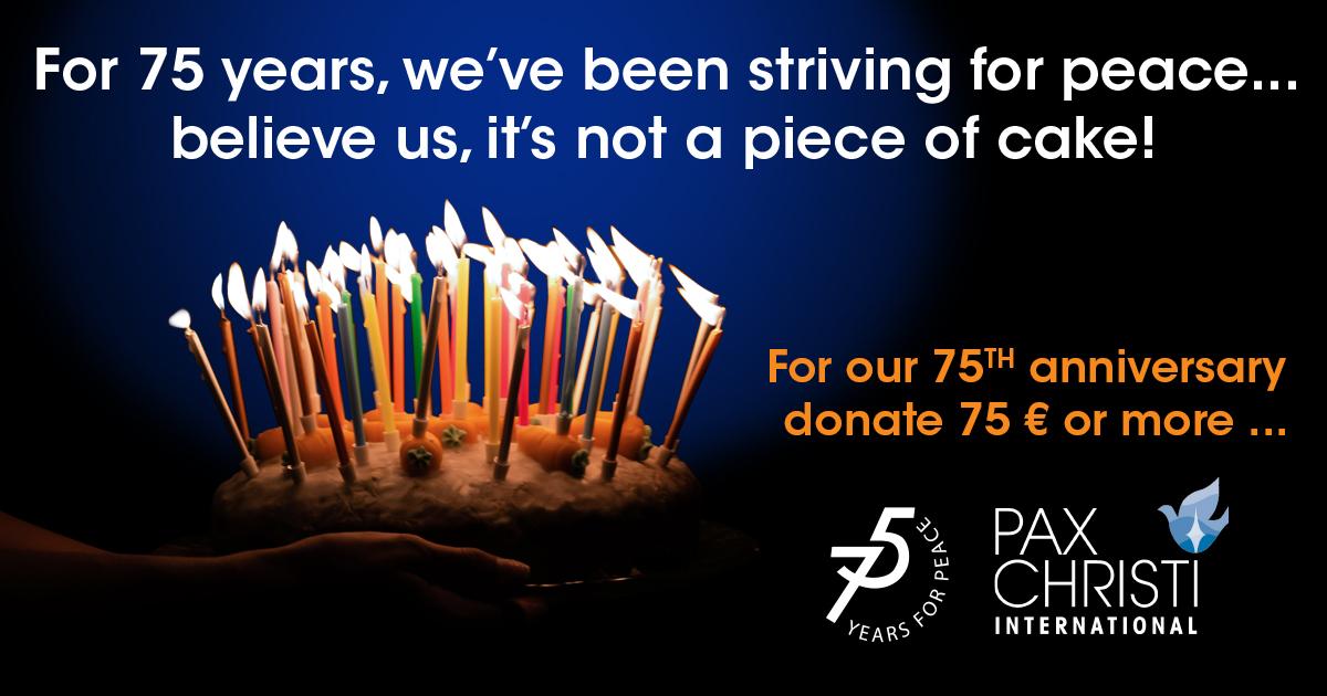 PCI 75 donation gateau post website